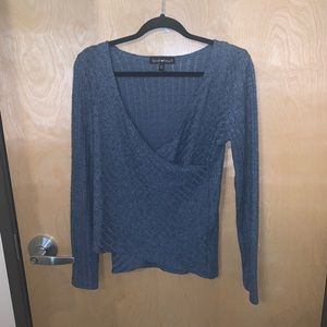 Forever 21 Cross Knit Top